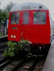 My first train crash! (LUL - London Underground Lover) Tags: london station train underground crash line metropolitan a60 ruislip a62