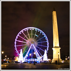 Paris by night (#7) (neoweb001 | www.julientordjman.fr) Tags: paris france night canon grande explore concorde 2008 nuit sapin placedelaconcorde roue 450d julientordjman