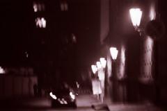 (Pokho  ) Tags: bw ilfordhp5 70300mm eos3 longexp shakennotstirred exttwilight locprague