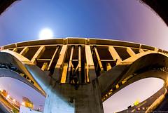 Devil Man (judyboy) Tags: longexposure nightphotography ri bridge concrete shadows demolition providence fullmoon sodiumvapor ©2008davidgongallrightsreserved 081015valleyst