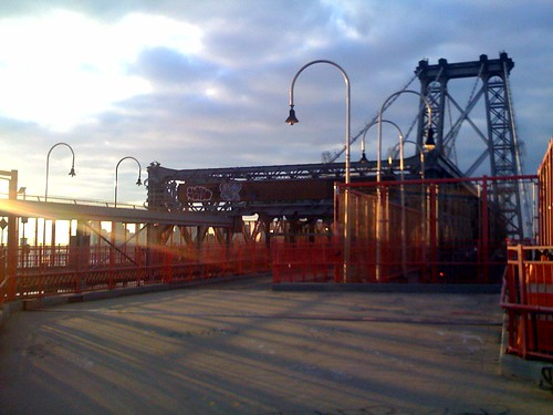 Sunshine on the Williamsburg Bridge