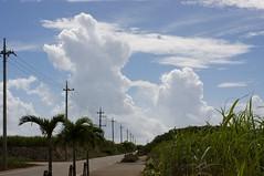 入道雲が追いかけて来る