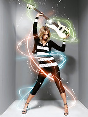 Guitar Girl Swirls (thisisbrianfisher) Tags: girl rock glow shine rockstar guitar stripes brian sparkle fisher swirl bfish brianfisher thisisbrianfisher