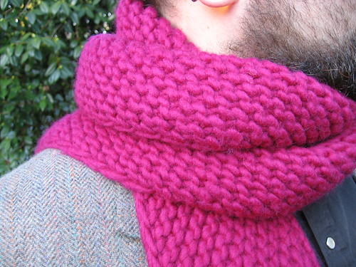 Knitted Stockinette Stitch Scarf Pattern : S P L E N D O R = -: So Much for my Anti-Garter Bias