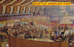 Food Circus - 1962 Seattle World's Fair (The Cardboard America Archives) Tags: seattle food vintage washington postcard 1962 seattlecenter worldsfair foodcircus