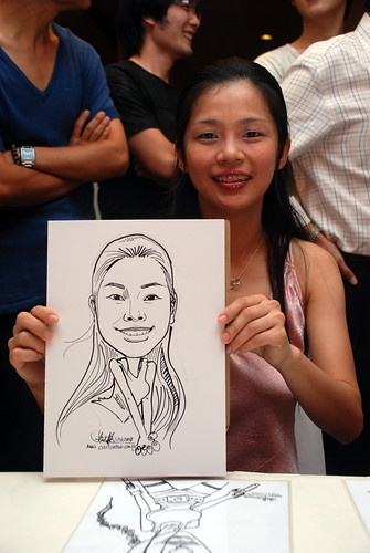 Caricature live sketching for Nippon Express Singapore Pte Ltd - 3
