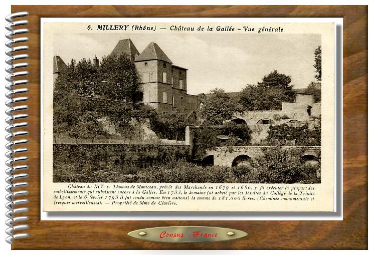 6.MILLERY (Rhône) - Château de la Gallée - Vue générale