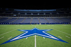 "Texas Stadium - ""Turn out the lights...the party is over"" (Matt Pasant) Tags: cowboys dallas texas irving dfw dallascowboys witten texasstadium romo terrellowens jimmyjohnson 50yardline troyaikman tomlandry jerryjones barryswitzer americasteam canon40d"