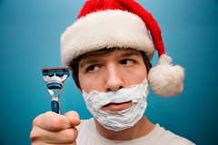 "Day 351/365 ""The Shave"" (Hunter Wilson) Tags: santa christmas winter portrait white hat photoshop self d50 beard nikon december nolan cream shaving shave wilson hunter 2008 razor 365days 25daysofchristmas hunterwilson"