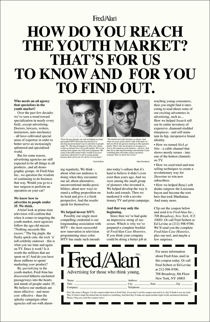 New York Times advertisement