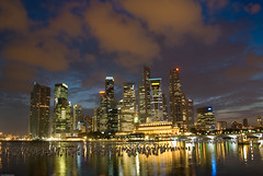 Central Business District (CBD) - Singapore (Souvik_Prometure) Tags: sunset singapore newyear cbd soe raffles centralbusinessdistrict marinabay flickrsbest singaporesunset superaplus aplusphoto overtheexcellence singaporenewyear souvikbhattacharya