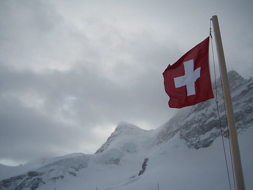 Flag at Jungfraujoch