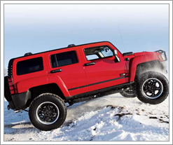 A HUMMER in the snow is cool
