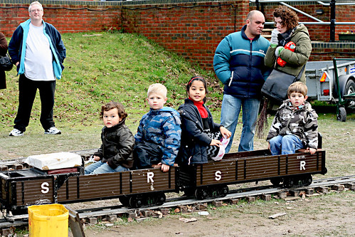 Kids on the mini-train