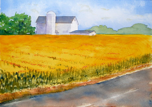 Watercolor Painting - Somewhere in Illinois