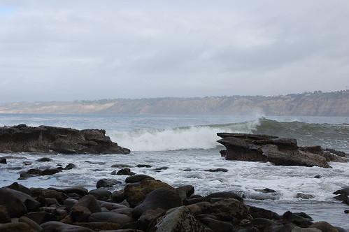 Waves between the rocks
