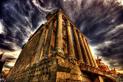 Temple of Antoninus and Faustina (dfworks) Tags: italy rome roma architecture temple ancient ruins forum hdr 3xp photomatix sigma1020 specialtouch