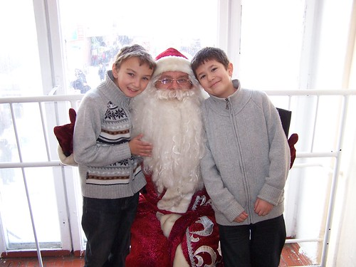 Maxime and Joshua with Fedir dressed as Did Moroz
