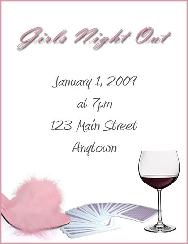 Invitation Girls Night Out