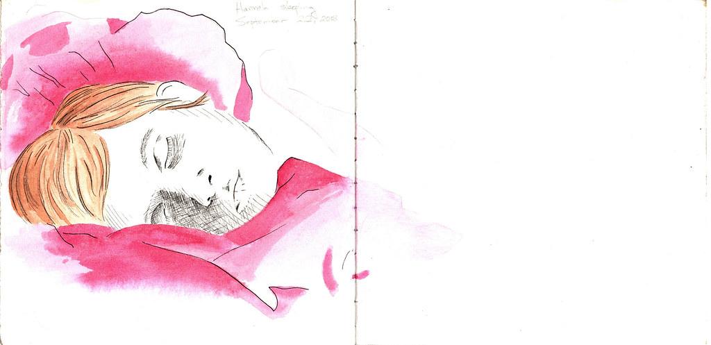 Hannah Sleeping by Colin Curry