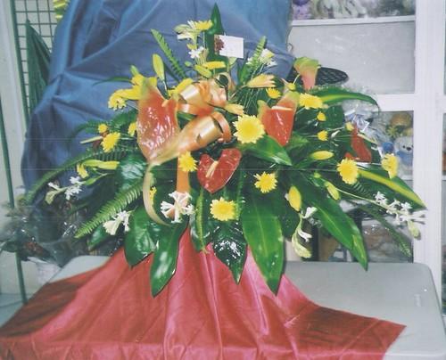 Tropical Casket Spray - Barbados Florist