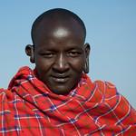 Maasai man with pierced ears - Kenya