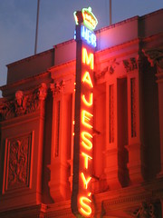 Her Majesty's Nighttime Glory - Exhibition Street, Melbourne (raaen99) Tags: building window architecture night facade lights evening arch mask theatre roman pillar columns 19thcentury decoration victorian shift shakespeare australia melbourne stainedglass victoria illuminated muse relief bust entertainment victoriana neonlights neonsign column pillars toga 1886 stainedglasswindow floodlit goldrush basrelief nineteenthcentury williamshakespeare tunica floodlights hermajestys hermajestystheatre womanstatue peacockfeather exhibitionstreet commercialbuilding peacocktail hismajestys femalestatue renaissancerevival hermaj renaissancestyle romanstyle melbournearchitecture hismajestystheatre exhibitionst latevictorian goldrushera thealexandra themaj nahumbarnet fanwindow architecturallydesigned boomperiod allegororical goldrusheraarchitecture thealexandratheatre thealec placeofentertainment