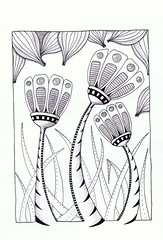 crowning glory (Jo in NZ) Tags: pattern drawing doodle zentangle nzjo zendoodle