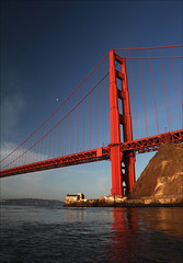 GG Sunrise Moon Portrait (LifeLover4) Tags: sf california canon bay boat interestingness interesting fishing explore goldengatebridge sanfranciscobay marinheadlands arima circularpolarizer ggnra ggb limepoint explored 550d efs1755mmf28isusm t2i parkpic lifelover4 stickneydesign ggb75
