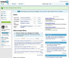LinkedIn Beta of New Homepage