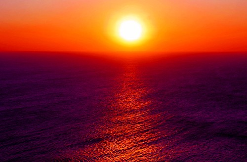 [フリー画像] 自然・風景, 海, 夕日・夕焼け・日没, イギリス, イングランド, 201005240700