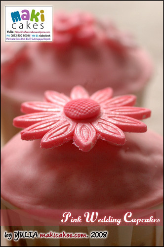 Pink Wedding Cupcake - Dome