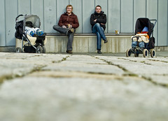 30 something (fjords) Tags: selfportrait coffee norway kids self spring break stones sleep ground ole sit bergen asleep rune strollers ulrik nordnes tarje