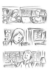 FILME BANCO DO BRASIL pg01 (steve ePonto) Tags: steve comix hq desenhos storyboard ilustraes makinof rasbiscos