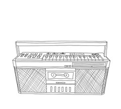 cassie (earthtoamy) Tags: music drawing casio boombox tapeplayer lowfi casiotone