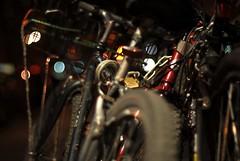 Bikes (modomatic) Tags: street nyc bicycle night bokeh bikes cc creativecommons moriza riza modomatic utata:project=nocturnal2