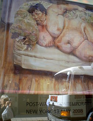 Lucian Freud painting expected to smash auction records (venetia 27) Tags: camera reflection london truck shopping painting bed women floor skin sleep auction christies lucienfreud benefitssupervisorsleeping