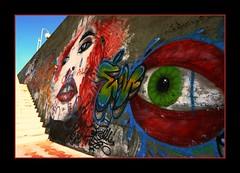Eyes (GVILL3RMO MARTINEZ) Tags: color colour argentina graffiti eyes grafiti vivid loveit ojos soe mdq mdp supershot platinumphoto peachofashot vanagram