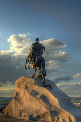 Peter the Great (The Bronze Horseman) (Danny Q-DJah) Tags: sculpture monument stpetersburg russia peter copper saintpetersburg rider spb sanktpeterburg  stpeterburg    thebronzehorseman