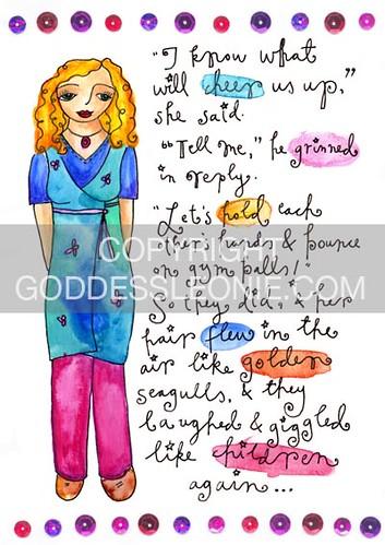 Joyful Goddess: Art print
