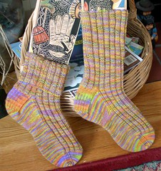 Seed Stitch Summer Socks