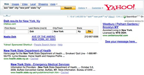 yahoo people search by phone number