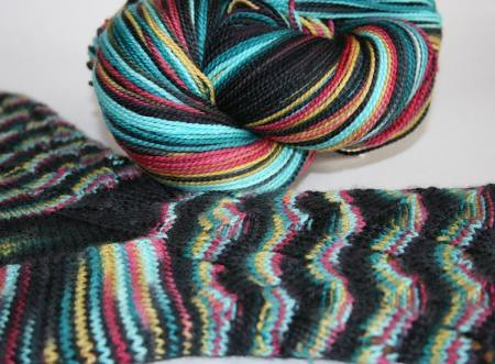 Cleopatra Sock and Ball of Yarn