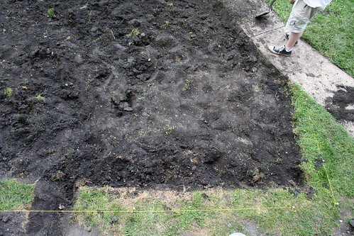 Digging for a Patio