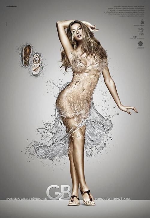 Gisele Bundchen sandals ad