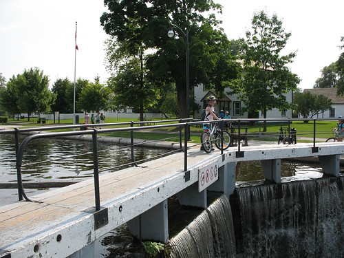 Biking along the Rideau Canal