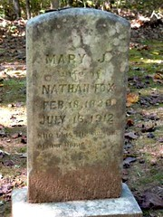 Mary Jane Wrenn Fox (1820-1912) Gravestone