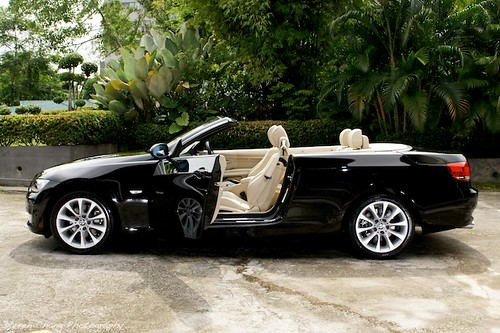 black bmw convertible. bmw e93 325i convertible black color bmw