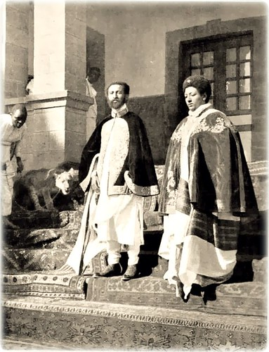 Emperor Haile Selassie I, and Empress Menen with a lion by Kwadwo ...