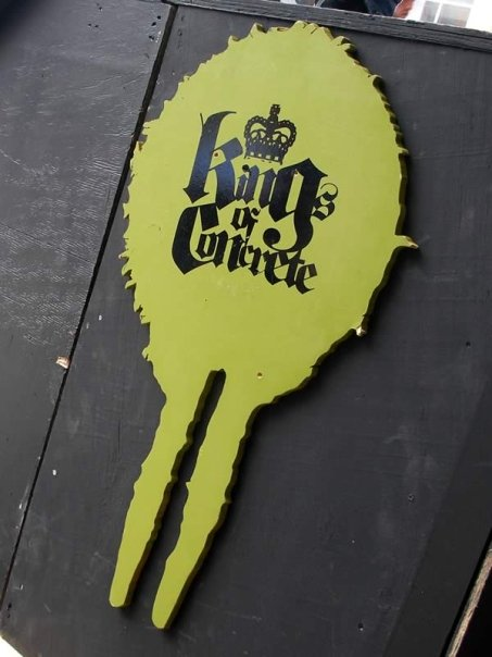 The Kings of Concrete mini event sign at Wolfe Tone Park, Dublin (19th July 200<img class=